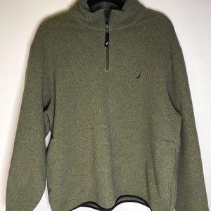 Nautica Olive green men's pullover size large